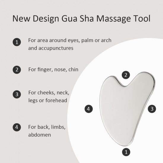 Face Roller, Metal Facial Massage Roller for Face Lift, Portable Waterproof Face Massage with Pumpkin Shape Roller, Massage for Face, Eye, Neck, Shoulder, Arms, Legs, or Cheeks