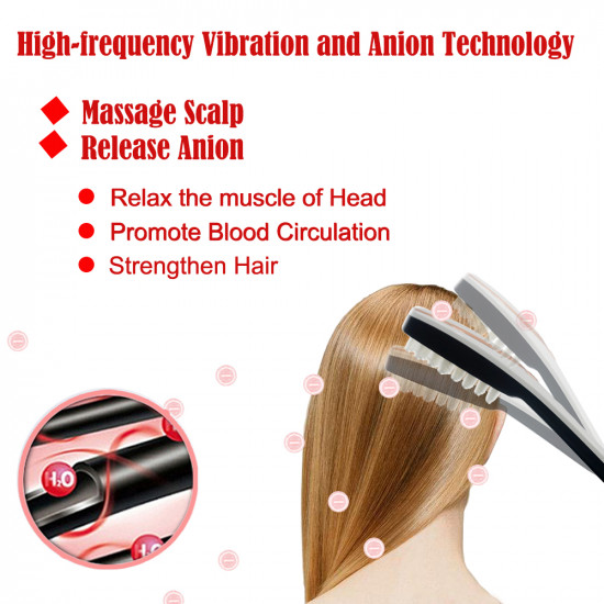 3-IN-1 Phototherapy Scalp Massager Comb for Hair Growth, Anti Hair Loss Head Care Electric Massage Comb Brush with USB Rechargeable, Gift for Women/Men/Friends