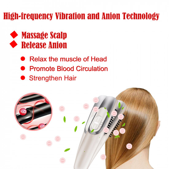 Scalp Massager Anti Hair Loss Hair Growth Comb Massage Stress Relax Electric Regrowth Hair Massager Brush, Gift for Women,Men,Mother,Friends