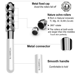 Face Roller, Facial Massage Roller for Face Lift, New Design Metal Waterproof Face Massager with 4 Rollers for Anti-wrinkles, Anti-aging, Ideal Gift for Mother, Wife, Girlfriend, or Business Gift