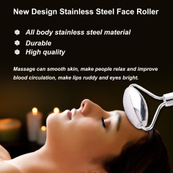 Face Roller Pure Stainless Steel Face Massager Roller and Gua Sha Set for Face Eye Neck Body Care Facial Massage Tool