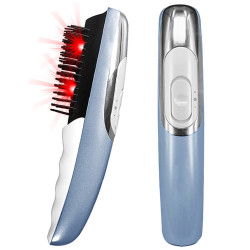 Electric Scalp Massager Comb 2 in 1 Magical Comb with Two Changeable Brushes Relief Stress Relax Electric Massage Brush